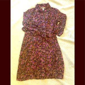 Diane Von Furstenberg silk button down dress 12